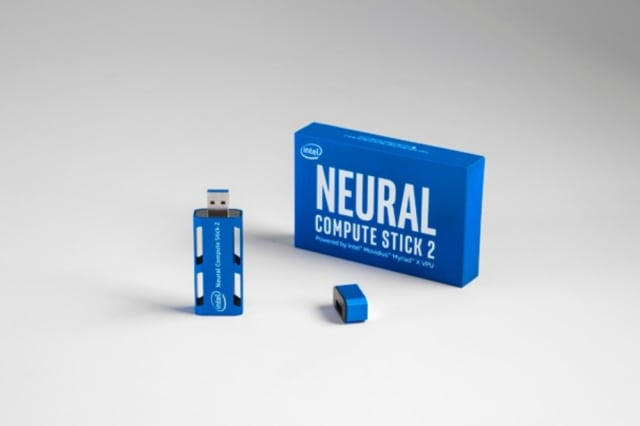 Neural Compute Stick 2. (Image courtesy of RS Components.)