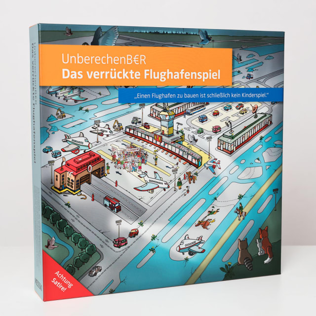 UnberechenB € R, a board game about the BER airport where the winner is the one who wastes the most taxpayer money. (Image courtesy of Flughafenspeil.de.)
