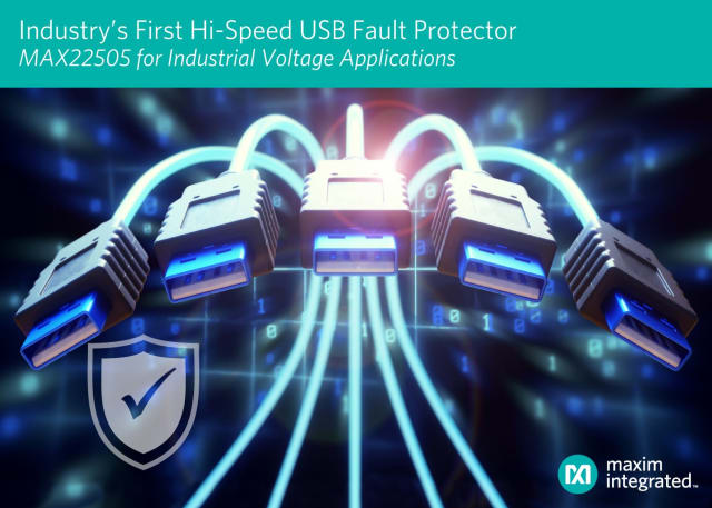 MAX22505 fault protectors. (Image courtesy of Maxim.)