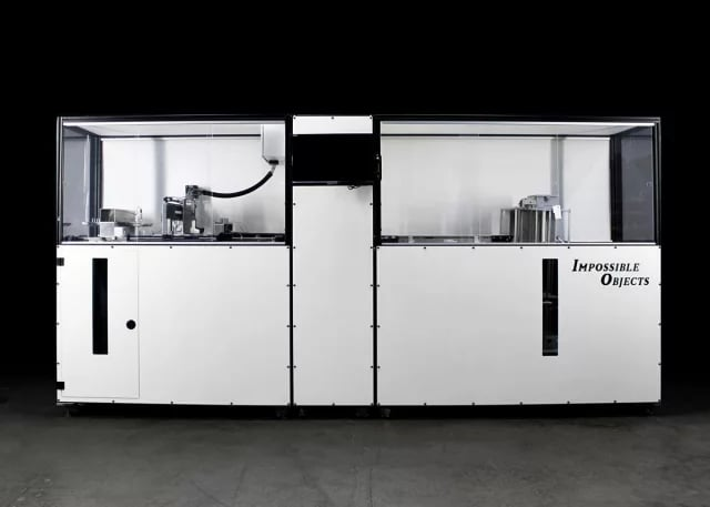 The Model One 3D printer from Impossible Objects, which is currently sold to pilot customers, is one of the few composite 3D printers on the market capable of using a wide variety of reinforcement materials. (Image courtesy of Impossible Objects.)