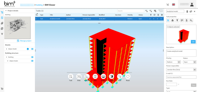 Engineers will be able to access SCIA Engineer 17 models via Allplan's bim+ portal. (Image courtesy of SCIA.)