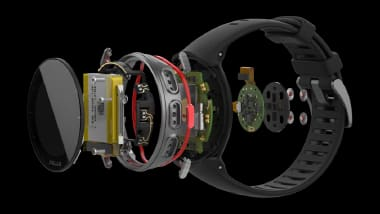 No ordinary watch. The Polar Vantage has 507 components and is able to report on all manner of athletic performance. The Kempele, Finland-based company designed the Vantage with Mentor and NX and presented it at SMAC19. (Image courtesy of Polar.)
