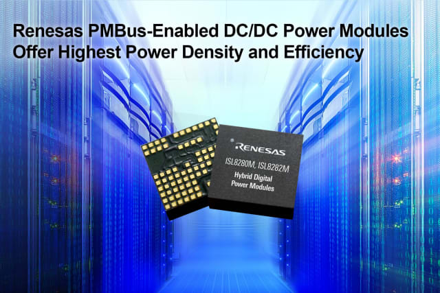 PMBus power modules. (Image courtesy of Renesas Electronics.)