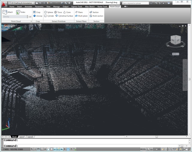 Figure 5. Point clouds? Yeah, we do that, says Rob Maguire, product manager of AutoCAD. (Image courtesy of Autodesk.)