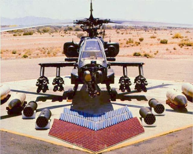 The Boeing AH-64 Apache attack helicopter. (Image courtesy of fas.org.)