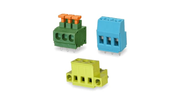TB00X terminal block connectors. (Image courtesy of CUI.)