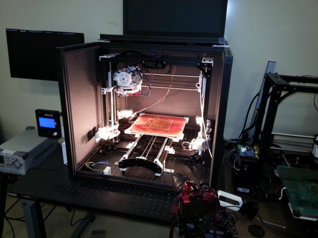 A LulzBot TAZ 4 modified to 3D print with PEI. (Image courtesy of NASA.)