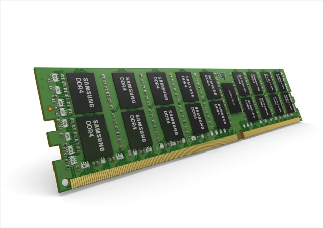 16Gb-based, 64GB RDIMM. (Image courtesy of Samsung.)