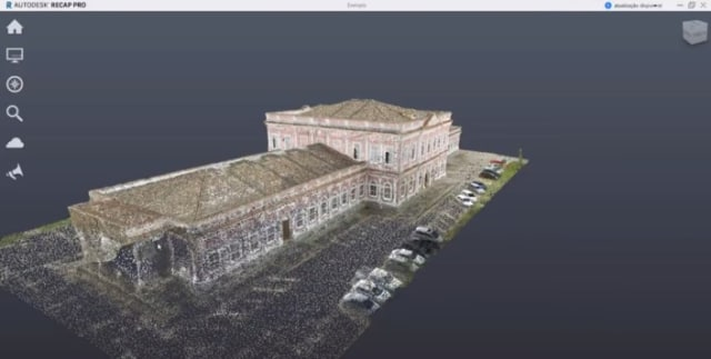 At the Imperial Museum of Brazil, reality capture technology includes UAVs to create high resolution scanning of the exterior and interior of the museum, better plan new exhibits, spearhead new preservation efforts, and create an interactive virtual map of the museum for visitors. (Image courtesy of Autodesk.)