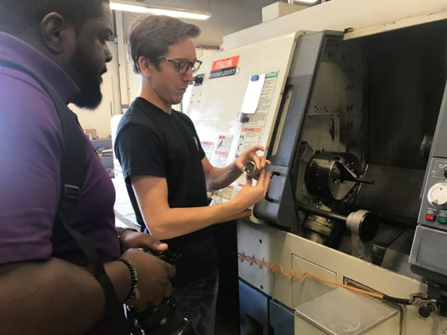 Michael Leszczynski gives a tour of the facility. (Image courtesy of K4 Machining.)