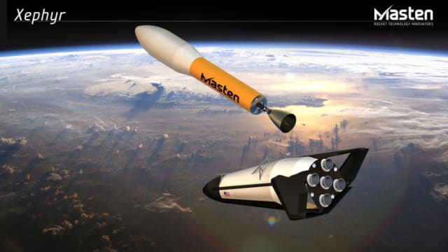 Figure 3. Xephyr reusable rocket rendering. (Image courtesy of Masten Space Systems.)