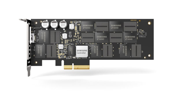 The Samsung SZ985 Z-SSD. (Image courtesy of Samsung.)