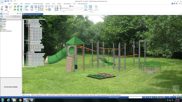 As a fun and engaging project, Wanink's students are asked to design tooling that can be used to create playground equipment. (Image courtesy of Ferris State University.)