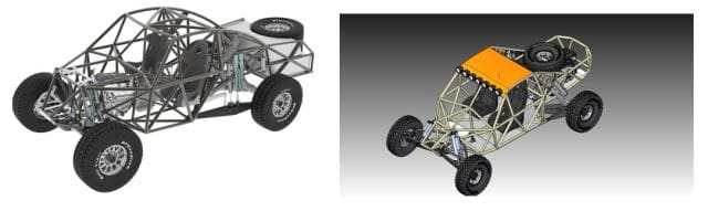 Craig Hall has built a career designing parts for off-road racing vehicles with Solid Edge. (Images courtesy of Craig Hall, Hall Designs.)