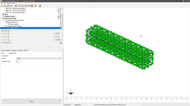 Screenshot of Lattice Commander in Netfabb 2019. (Image courtesy of Autodesk.)