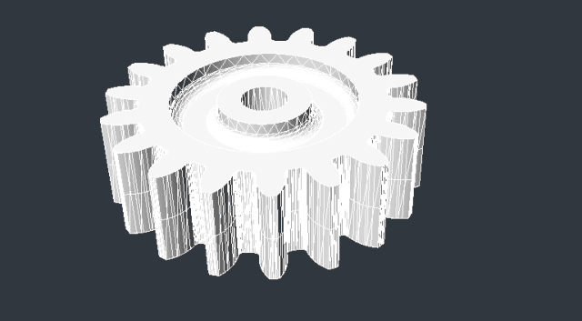 Figure 3. A sprue gear imported from AutoCAD into ZWCAD.