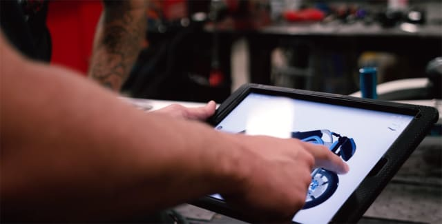 Because Fusion 360 runs in the cloud, it's possible to collaborate on projects and run the software on mobile devices. (Image courtesy of Autodesk.)