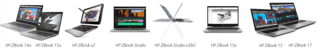 The entire HP ZBook lineup. (Image courtesy of HP.)
