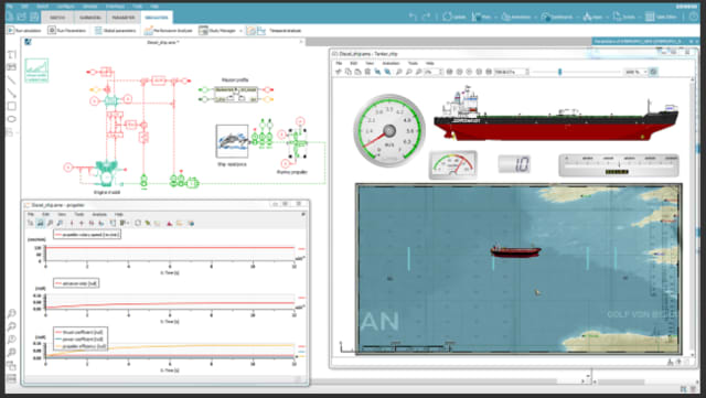 Figure 3. Ahoy there, mateys! Simulate propulsion efficiency in Amesim. (Image courtesy of Siemens.)