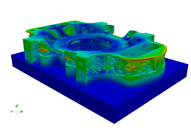 Figure 3. Netfabb displacement plot. (Image courtesy of Autodesk.)