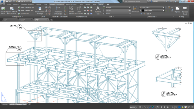 Figure 3- Blow-up details and create callouts. Picture from Autodesk.