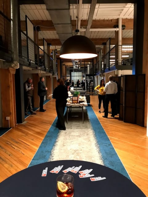 Party just getting started. Bright Machines headquarters in San Francisco was the scene of the company's first open house.