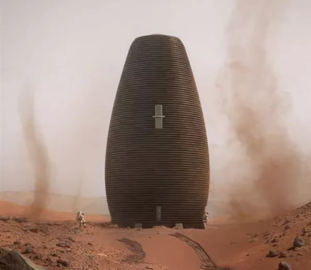 AI SpaceFactory's cylindrical Marsha design. (Image courtesy of NASA.)