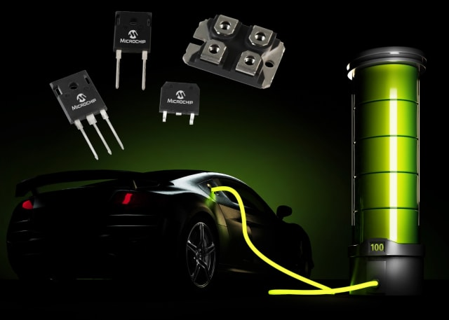 SiC power devices. (Image courtesy of Microchip.)