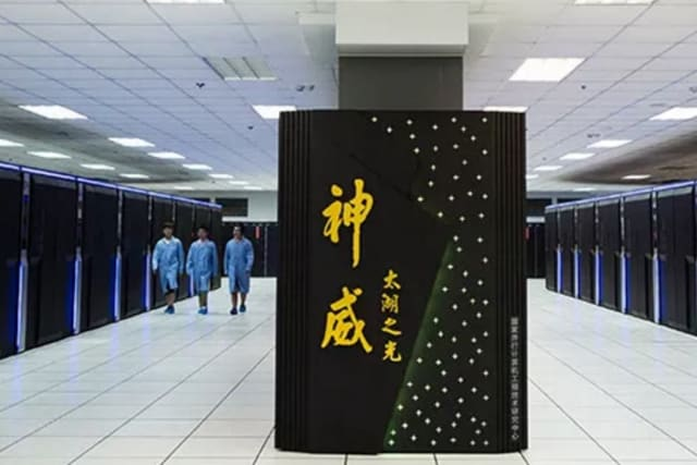 At number three with an HPL score of 93.0 petaflops is the Sunway TaihuLight supercomputer. It was designed and constructed by China's National Research Center of Parallel Computer Engineering & Technology (NRCPC) and runs only on Sunway's SW26010 processors. (Image courtesy of NRCPC.)