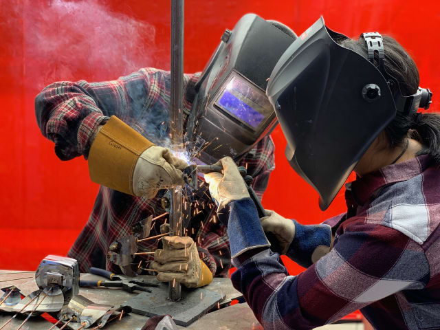 Welding is one of the many building skills the participants at Girls Garage are taught.