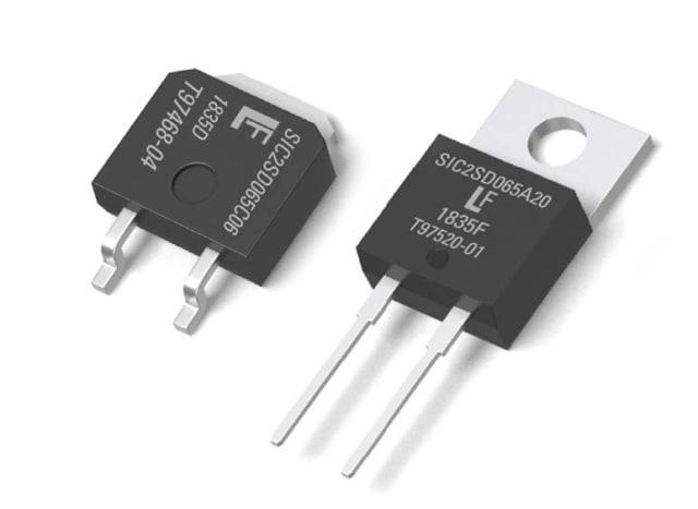 GEN2 650V SiC Schottky diodes. (Image courtesy of Littelfuse.)