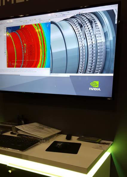 NVIDIA simulation demonstration at SOLIDWORKS World 2017 powered by the Quadro GP100.