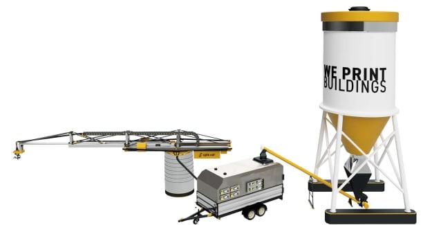 The Apis Cor construction setup. (Image courtesy of Apis Cor.)