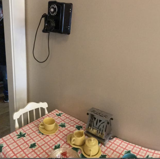 Figure 4 – HP's founders would sign contracts on the kitchen table. The telephones still had dials.(Image courtesy of Roopinder Tara.)