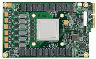 Figure 3. Google's first TPU on a printed circuit board. (Image courtesy of Google.)
