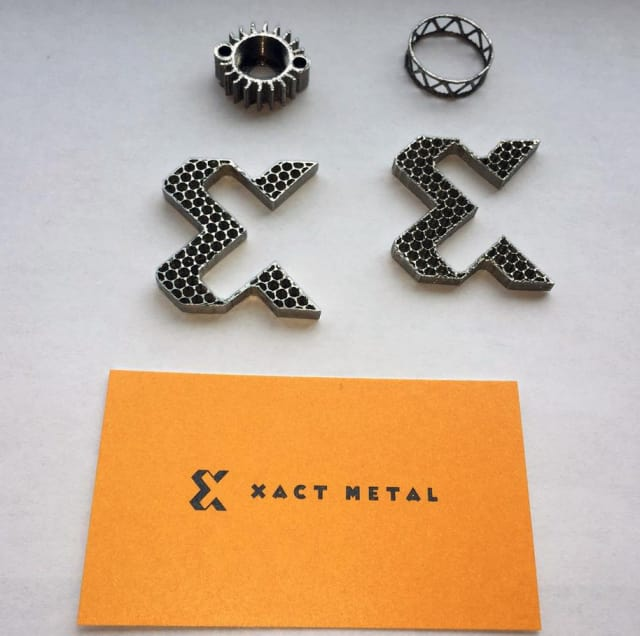 Parts 3D printed by the Xact Metal process. (Image courtesy of Xact Metal.)