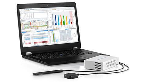 TSME6 drive test scanner with 5G NR scanning software. (Image courtesy of Rohde & Schwarz.)