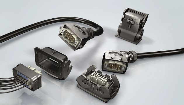 Han-Eco connector hoods and housings. (Image courtesy of RS Components.)