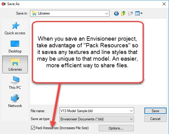 Users can now pack all of the BIM data associated with a project for easier sharing. (Image courtesy of Cadsoft.)