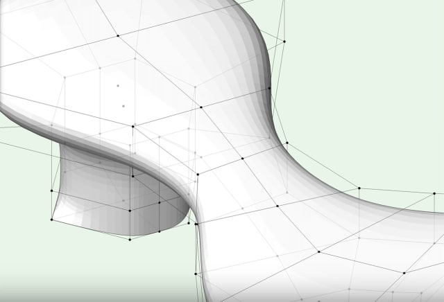 Vectorworks can make complex, organic shapes using subdivision modeling, thanks to the Pixaranimation engine. (Image courtesy of Vectorworks.)