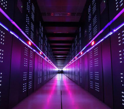 Located at the National Supercomputer Center in China, the Tianhe-2A (Milky Way-2A) is ranked at number four among the world's fastest supercomputers. It scored 61.4 petaflops on the HPL benchmark and runs on Matrix-2000 accelerators and Intel Xeon processors. (Image courtesy of the National Supercomputer Center.)