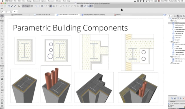 "Parametric building components let you get more flexible with ""standard elements."" (Image courtesy of GRAPHISOFT.)"