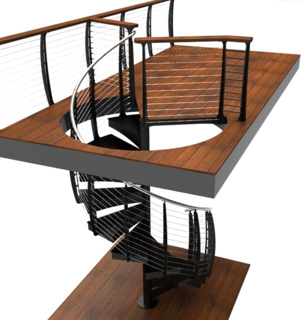 A Keuka spiral staircase. (Image courtesy of Keuka Studios.)