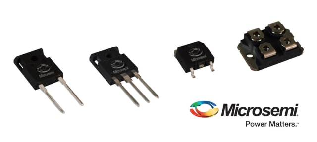 SiC2 MOSFET devices. (Image courtesy of Microsemi.)