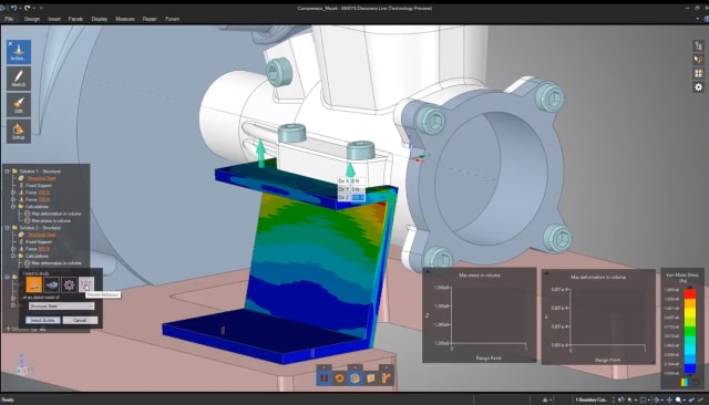 ANSYS Discovery Live provides real-time simulation results. (Image courtesy of ANSYS.)