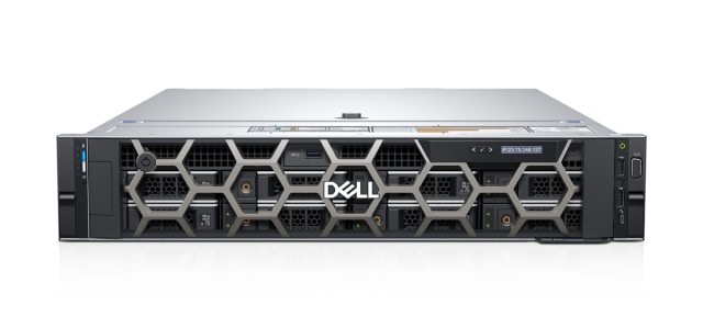 The 7920 Rack has much of the power of the 7920 Tower, but can be installed beneath one's desk in an unobtrusive manner. (Image courtesy of Dell.)