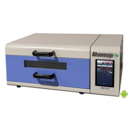 MC-301 benchtop batch reflow oven. (Image courtesy of Manncorp.)