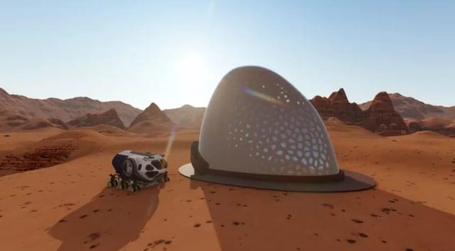 Albert Kahn Associates is famous for its Detroit landmarks, but the firm's latest design is built for Martian soil. (Image courtesy of NASA.)