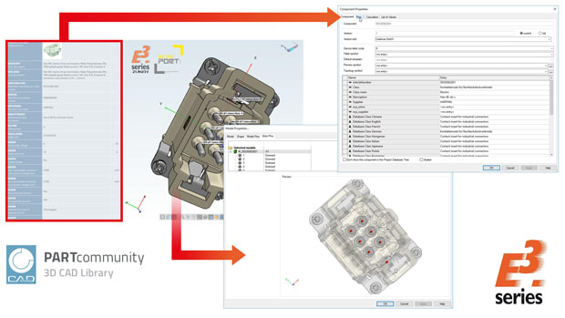 PARTcommunity 3D CAD Library. (Image courtesy of Zuken.)