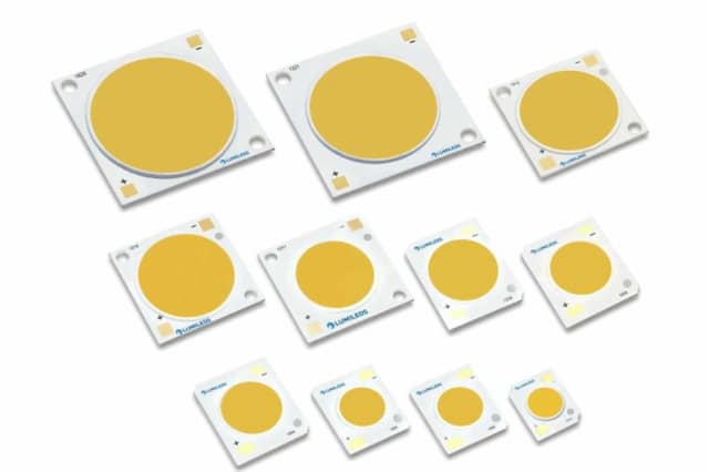 Luxeon Gen-4 COB LEDs. (Image courtesy of RS Components.)